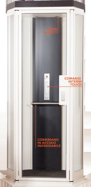 Miniascensori per interni miniascensore domestico per for Piani di ascensore domestico